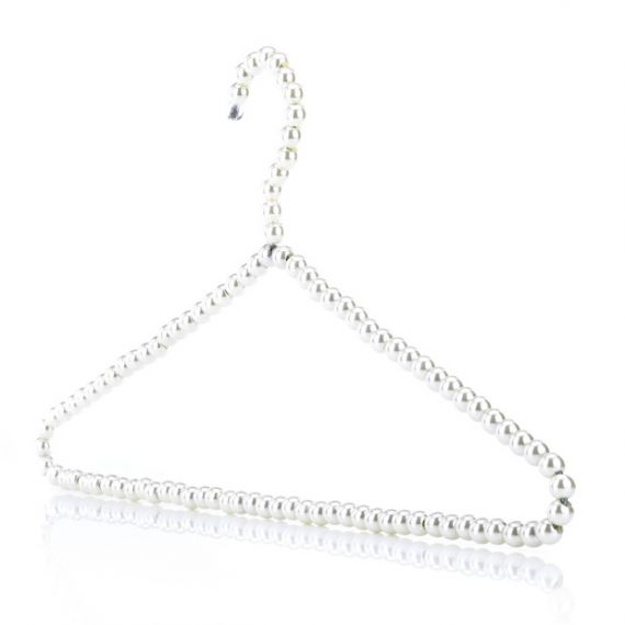 Pearl Effect Beaded Clothes Hanger  40cm - Qty 100