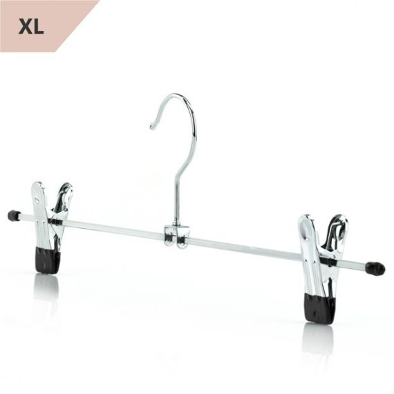 Extra Wide Metal Skirt & Trosuser Clip Hangers  40cm - Qty 96