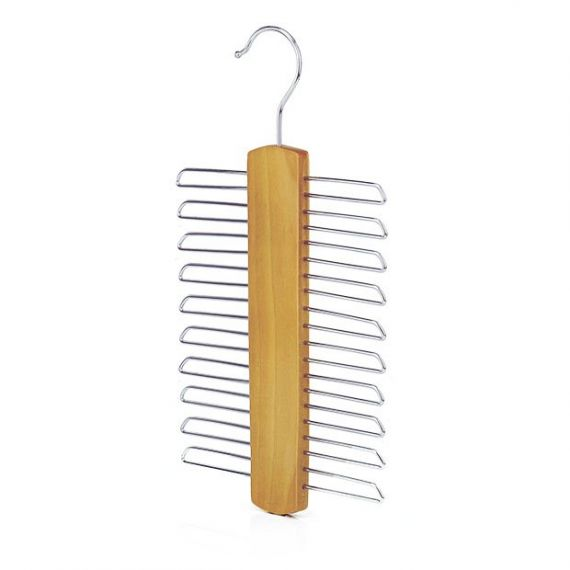 Wooden 20 Bar Tie Hanger  17cm - Qty 40